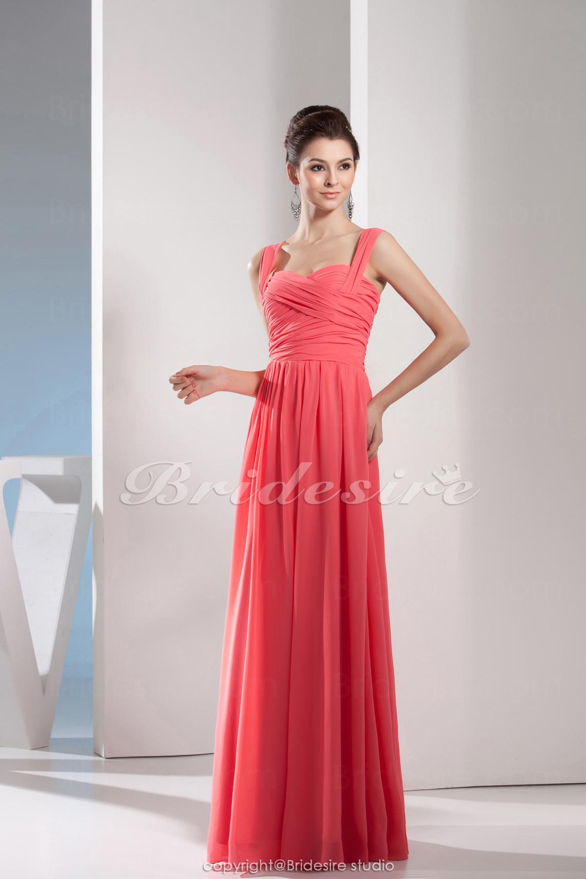 af4f2a195 Bridesire - Corte Recto Escote Corazón Hasta el Suelo Sin Mangas Gasa  Vestido  BD4626  - €90.98   Bridesire