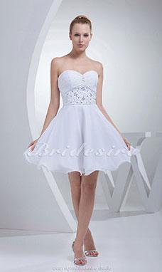 e8990d3d7 Corte Princesa Escote Corazón Corto/Mini Sin Mangas Satén Gasa Vestido