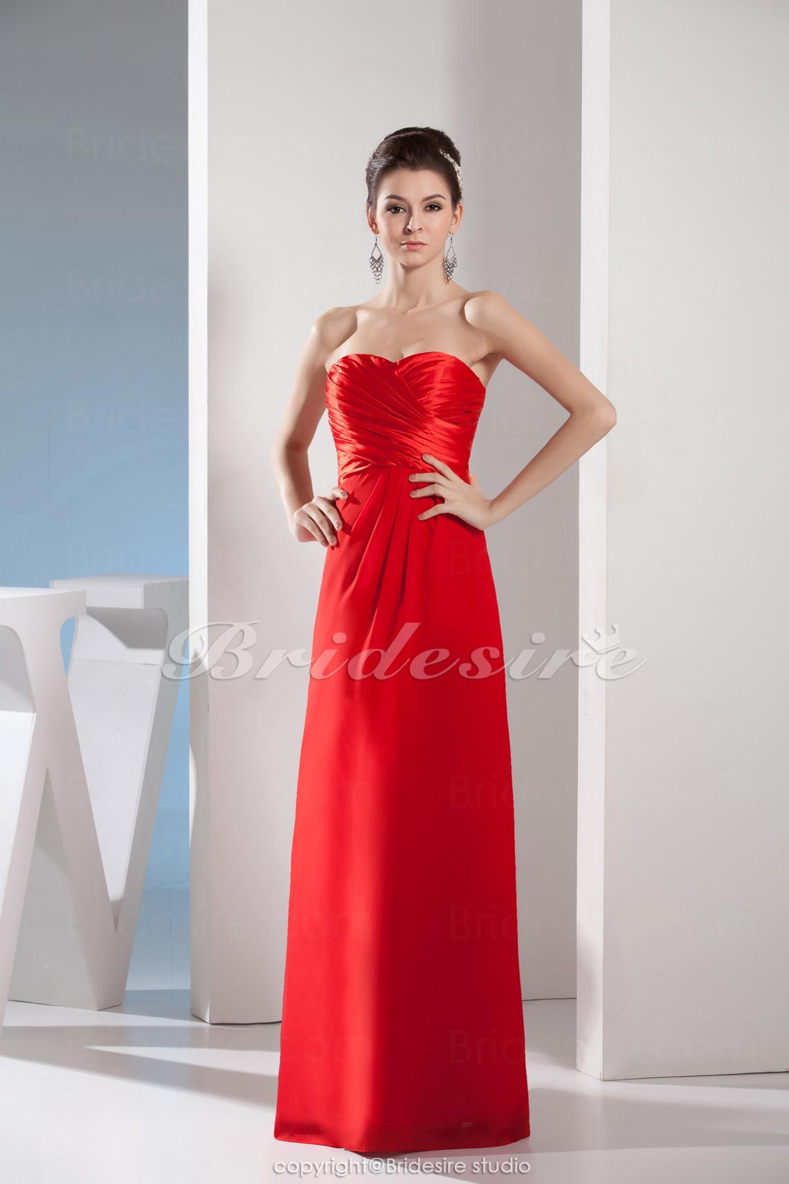 a8fca4315 Bridesire - Corte Recto Escote Corazón Hasta el Suelo Sin Mangas Satén  Vestido  BD4635  - €83.56   Bridesire