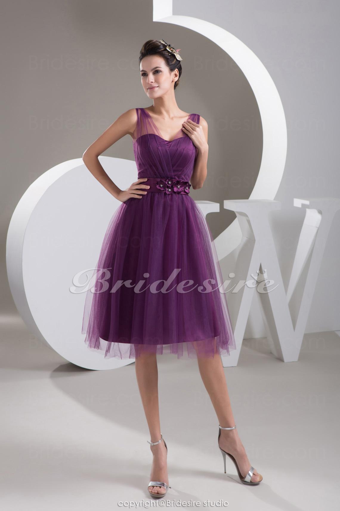 Bridesire - Corte A Tafetán Hasta el Suelo Escote en V Vestido de ...