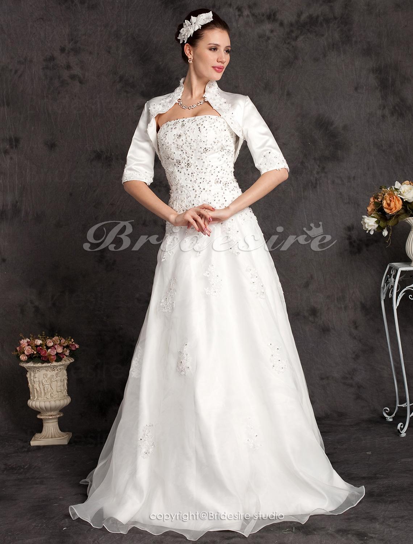 17d3760c79 Bridesire - Corte A Spaghetti Hasta el Suelo Gasa Vestido para niña ...